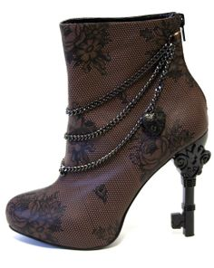 "TOO FAST Brand - ""Unlock This Boot"" $72 (Probably my favorite steampunk style yet. Such a shame I can't handle heels!)"