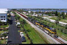 RailPictures.Net Photo: FEC 101 Florida East Coast Railroad (FEC) EMD SD70M-2 at Stuart, Florida by Arthur James