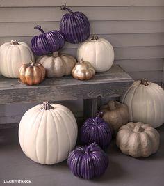 DIY Michaels Craft Pumpkins - fall decor #MichaelsMakers