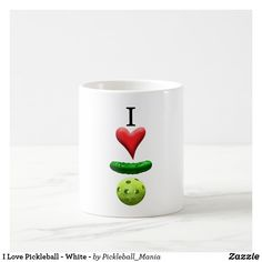 I Love Pickleball - White - Coffee Mug