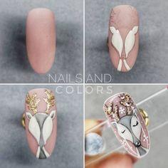 Jahre und MK in Instagra Winter Nail Designs, Winter Nail Art, Christmas Nail Designs, Winter Nails, Nail Art Designs, Fall Nails, Xmas Nails, Holiday Nails, Christmas Nails