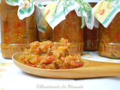 Zacusca de vinete Salsa, Mexican, Ethnic Recipes, Food, Essen, Salsa Music, Meals, Yemek, Mexicans
