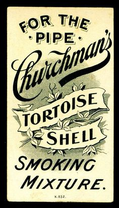 Cigarette Card Back - Churchmans Tortoise Shell Smoking Mixture by cigcardpix, via Flickr