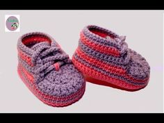 with English subtitles video baby booties crochet for beginners