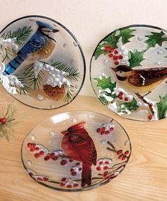 Loving this Round Bird Plate Set on #zulily! #zulilyfinds