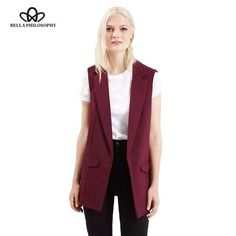 Bella Philosophy 2017 spring new fashion simple solid color no button short black white wine red yellow blazer jackets