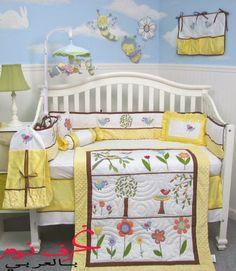 http://www.arab-bedroom.com/2014/04/yellow-baby-bedroom.html Bird Nursery, Baby Room Decor, Kid Beds, Yellow Bedding, Baby Nursery Bedding, Nursery Room, Nursery Ideas, Crib Sets, Crib Bedding Sets