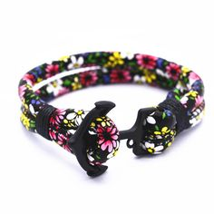 Nouveau populaire noir l ancrage bracelet bohème fleur bracelet en cuir pour femmes le meilleur cadeau style 6 sortes de couleurs dans Bracelets à brins de Bijoux et accessoires sur AliExpress.com | Alibaba Group