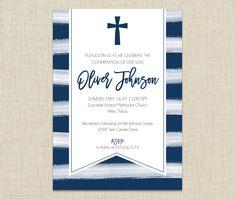 First Communion Invitation. Confirmation Invitation  from Brown Paper Studios