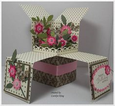 Flower Garden Pop-up Box Card - Wow! Very Different. A little more (but can't get to instructions without signing into site).
