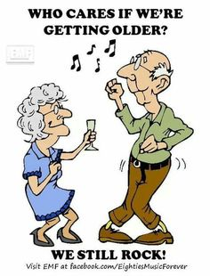 Cartoon Old People Birthday Party Old Lady Humor, Aging Humor, Birthday Jokes, Senior Humor, Art Impressions Stamps, Growing Old Together, Old Couples, Old Folks, Old Age