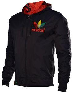 6011e9376881 Adidas Mega Reversible Mens Windbreaker Jacket Z62616 (XL) at Amazon Men s  Clothing store  Athletic Hoodies. Rasta Dress ...