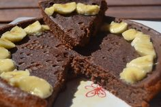 Tarta de chocolate y platano baja en pp