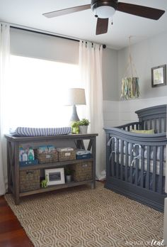 My 2nd space is complete! My Rustic Industrial Baby Boy Nursery is finally done for the Fall 2017 One Room Challenge! I was a little worried I wouldn't make it on time for this space, but I&#…