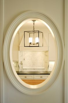 Swinging Door With Oval Window