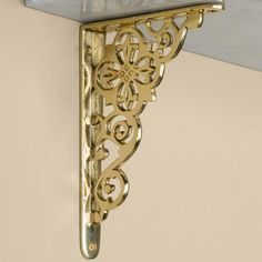 Pennsylvania Dutch Brass Shelf Bracket