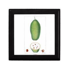 Vintage Baobab Fruit Botanical Print Jewelry Box - rustic gifts ideas customize personalize