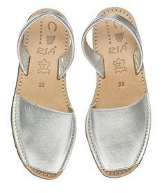 Silver Spanish avarcas