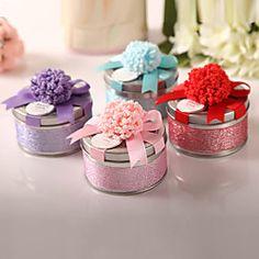 gunst tin met lint boog - set van 6 - (meer colores) | LightInTheBox