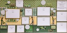 like the stripes for background Scrapbook Sketches, Scrapbook Page Layouts, Scrapbook Pages, Scrapbooking Ideas, Page Maps, Life Photo, Projects To Try, Golf, Paper Crafts