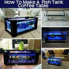 How to make A Fish Tank Coffee Table diy craft crafts tables diy crafts home crafts home ideas home decor fishtank