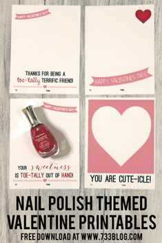 Looking for a Valentine's Day Card perfect for teen girls? This Nail Polish Valentine's Day Card Idea is just what you need!