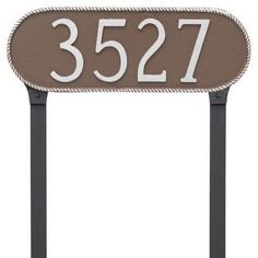 Montague Metal Products Rope Oblong Address Plaque Finish: Swedish Iron/Black