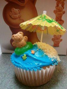 beach cupcakes - Google Search