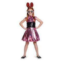 Kids Powerpuff Girls Blossom Deluxe Costume, Size: Medium, Multicolor