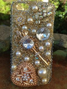 Key to my Heart bling iPhone 5 Case. $76.00, via Etsy.