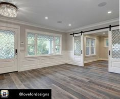 If it comes to laminate flooring, 1 name that's senonomous is Balterio. As it is wooden flooring, you will need to make certain there isn't any extra water in the ground. Wood-look ceramic tiles flooring may be a perfect choice. Luxury Home Decor, Luxury Homes, Luxury Interior, Glass Barn Doors, Wood Doors, Interior Barn Doors, Home Fashion, My Dream Home, Home And Living