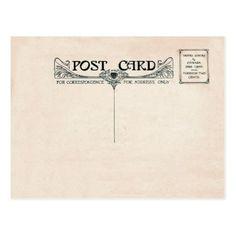 Art Nouveau Postcard Photo Front - postcard post card postcards unique diy cyo customize personalize