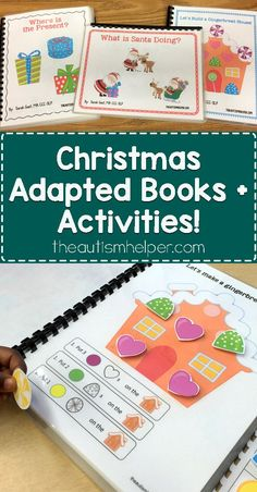 Christmas adapted books are here! Sarah the Speech Helper is sharing her 3 classic books plus classroom activities for the month of December! From theautismhelper.com #theautismhelper