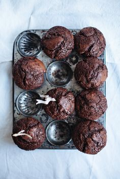 Double chocolate muffins and chocolate chip cookies