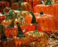 ~ blown glass pumpkins ~
