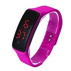 Tonsee® Mode Ultra mince fille hommes sport Silicone LED Digital Sports montre-bracelet