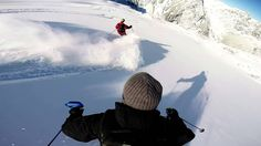 Check out this unusual GoPro angle while heli-skiing in Canada at Bella ...