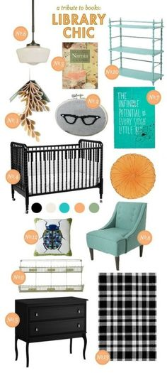 DearMissKara's nursery contest spam (create a name for the baby who lives there) - library chic - Astrid Emily