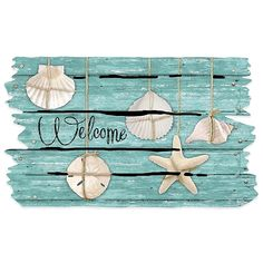 Masterpiece 18 Inch x 30 Inch Seashell Door Mat - Home Style Corner Beach Cottage Style, Beach Cottage Decor, Coastal Style, Coastal Living, Coastal Decor, Coastal Cottage, Rustic Beach Decor, Ocean Home Decor, Coastal Bedrooms