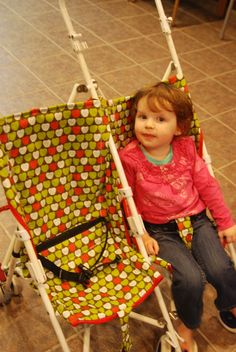 Recovering an Old Stroller Tutorial This may be my biggest project yet. The church nursery strollers were in need of either some serious deep cleaning, or a recovering with all new fabric. The fo...