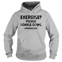 Exercise Please I Chase Cows 1116 =>   Exercise Please I Chase Cows 1116            Air jet yarn for softness and no-pill performance  Double-lined hood with matching drawstring  Double-needle stitching  Pouch pocket  Double-needle cuffs  1 X 1 athletic rib with spandex  Quarter-turned to eliminate center crease