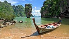 Para tu excursión te damos la opción de ir en barca de cola larga (longtail boat) para que disfrutes una experiencia más local! #bote #tailandia #pangnga #longtail #colalarga #mar #vacaciones #paseo #tailandiaenespañol