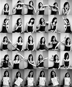 liebevoll gebastelte Collage mit mehreren schwarz-weißen Fotos Más