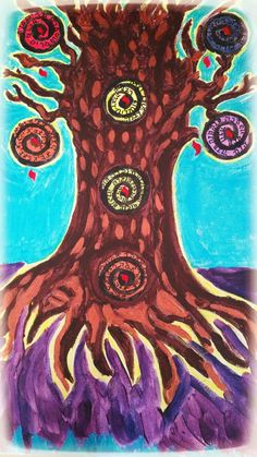 The female Prophecy Tree (Acrylic on canvas)