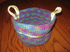 Crochet Home Decor on Pinterest Crochet Baskets, Crochet ...