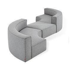 Shop modular sectional sofas with beautiful modern designs. Modular Furniture, Sofa Furniture, Living Room Furniture, Modern Furniture, Furniture Design, Smart Furniture, Furniture Removal, Minecraft Furniture, Furniture Stores