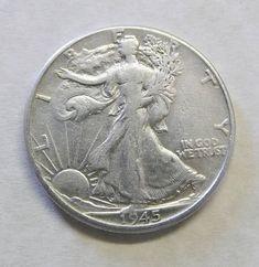 1945 Half Dollar 90% Silver