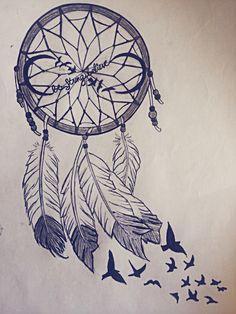 Beautiful dream catcher drawing