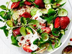 Strawberry, Quinoa, and Ricotta Salata Salad | Quinoa is one of the most popular search terms on our site. You love it, and so do we! Here are some of our best quinoa recipes.