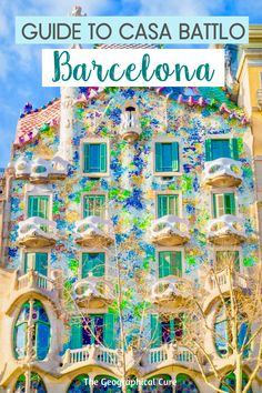 Planning a trip to Barcelona in northern Spain? One of Barcelona's must see sites is Antoni Gaudi's fantastical Casa Battló. After Sagrada Familia, it's the most famous Gaudí building in Barcelona. For Casa Batlló, Gaudí conjured a building in the image of a dragon. In this travel guide, I tell you why you should visit Casa Battlo and what you'll see inside and on the dramatic rooftop.   #Barcelona #Gaudi #ThingsToDoInBarcelona #Spain Itineraries #homeschool Oh The Places You'll Go, Places To Travel, Travel Destinations, Places To Visit, Beautiful Buildings, Beautiful Places, Modern Buildings, Valensole, Barcelona Travel